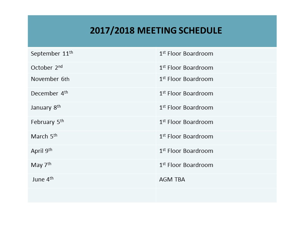 meeting dates 1